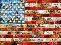 American History Flag Collage