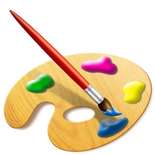 Paint Brush & Easel
