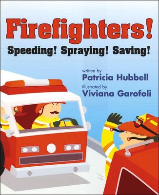 Firefighters Speeding Spraying Saving
