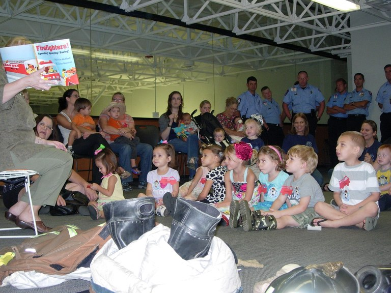 Firefighters Join Story Time and Babies & Books