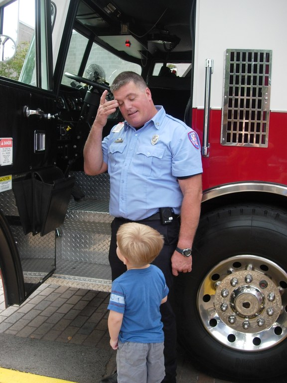 Hello, Mr. Fireman.  Can I drive your truck?